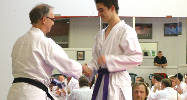 Karate Grading Receiving New Belt